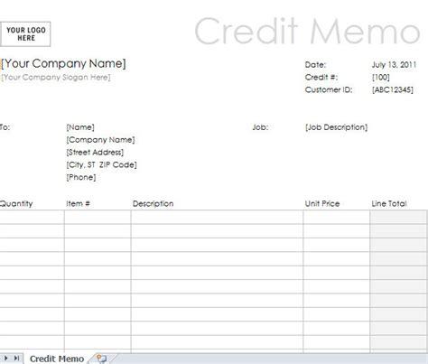 credit note letter credit note credit memo credit memo