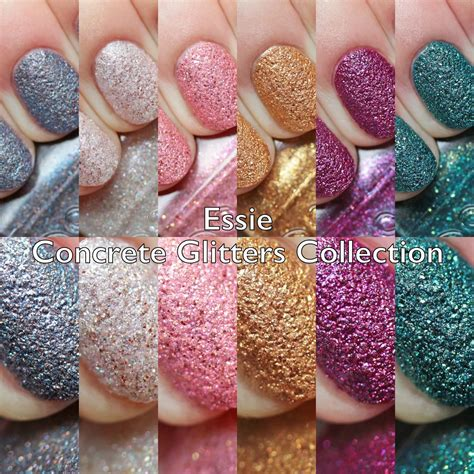 The Polished Hippy: Essie Concrete Glitters Collection Swatches and Review