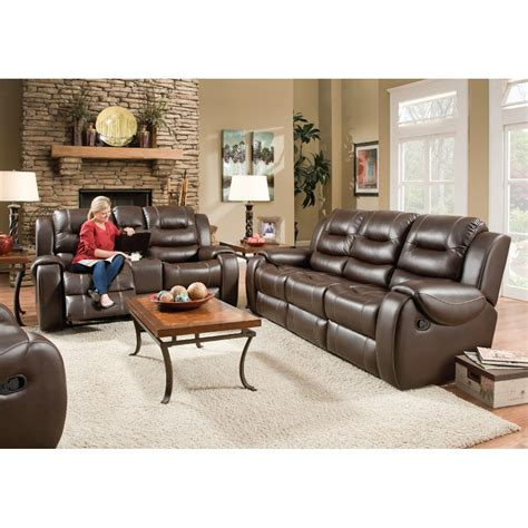 titan living room reclining sofa loveseat chocolate