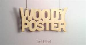 Realistic Wood PSD Text Effect Free