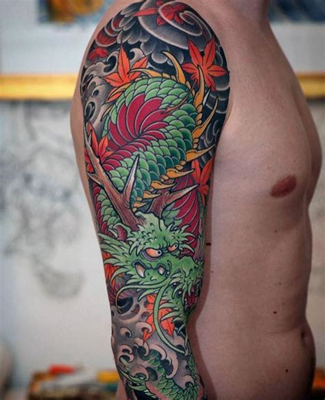 dragon arm tattoo designs  men fire breathing ink