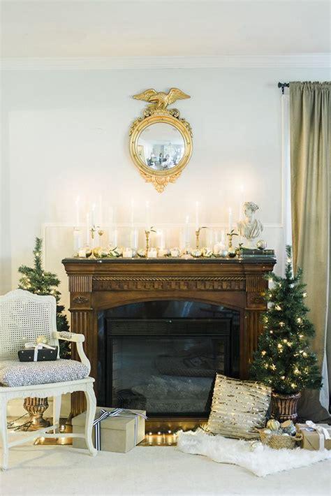 luminous holiday fireplace mantel  home depot