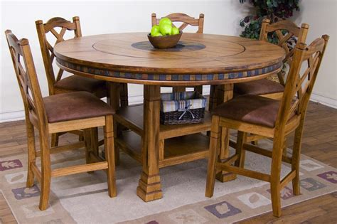 adjustable height table w lazy susan by