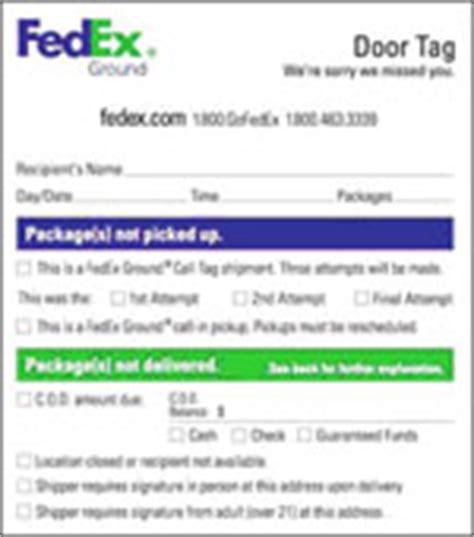 fedex door tag fedex door tags simplify and delivery