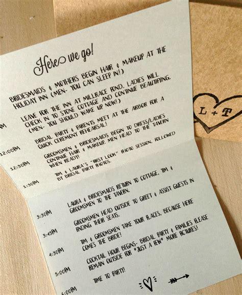 wedding itinerary template ideas  pinterest