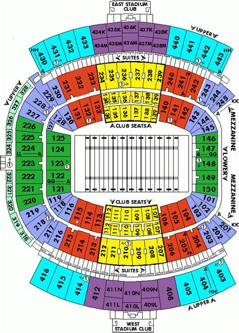 Jaguar Tickets by Jacksonville Jags Stadium Seating Chart Brokeasshome