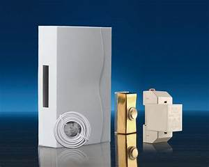 Wired Wall Mounted Doorbell Kit  Brass Push  Cable
