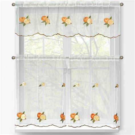 home depot window curtains window elements oranges embroidered 3 kitchen