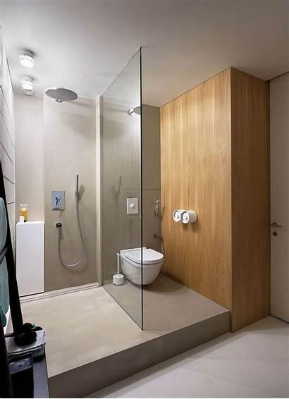 Bathroom Simple Shower Interior Bathtub Toilet Penthouse