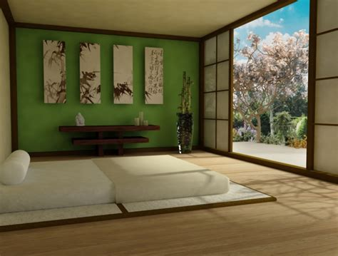 bedroom zen peaceful calm interior japanese