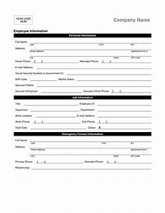 employee personal information form template hardsell With new employee information template