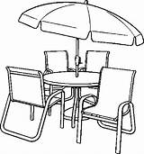 Coloring Table Chairs Chair Pages Dining Umbrella Clip Clipart Drawing Library Printable Getdrawings Furniture Getcolorings Colo Popular sketch template