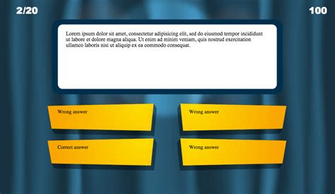 Powerpoint Trivia Template by Powerpoint Trivia Template Powerpoint Template Quiz