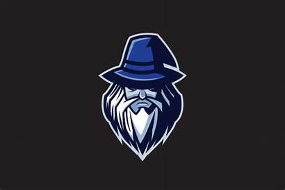 Mascot Wizard Dark Logos Cartoon Panda Logoground