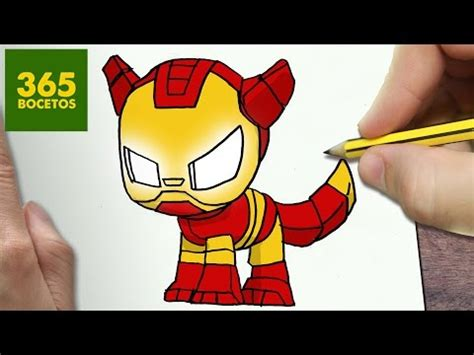 como dibujar perro iron man kawaii paso  paso dibujos kawaii faciles   draw  iron man