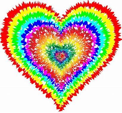 Dye Tie Heart Tye Domain Rainbow Clipart