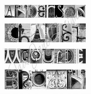 Your Name in Architecture Alphabet Letters (Framed/Matted ...