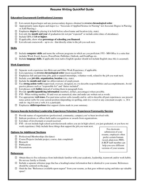 How To Put Certifications On Resume Exle by Resume Writing Quickref Guide Education Coursework