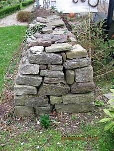 Natursteinmauer Selber Bauen : garten anders geschichtete natursteinmauer ohne ~ Michelbontemps.com Haus und Dekorationen