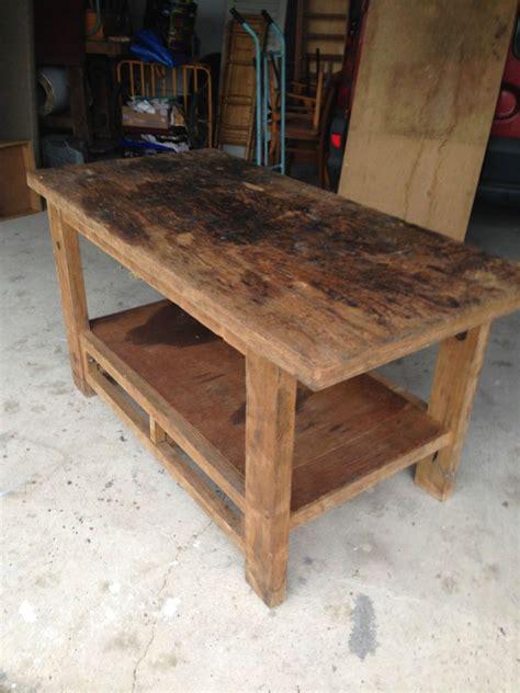 etabli bois ancien ancien meuble de metier table etabli bois massif menuisier mobilier industriel in 2019 house
