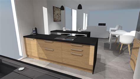 cuisine noir plan de travail bois cuisine bois plan de travail noir description cuisine