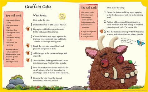 gruffalo cake recipe world book day