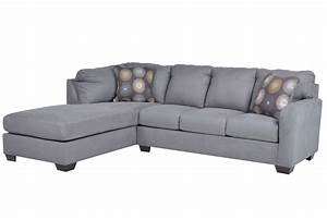 Zella charcoal 2 piece sectional w laf chaise living spaces for Zella sectional sofa chaise