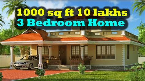 small homes floor plans my home 3 bedroom 1000 sq ft 10 lakhs only