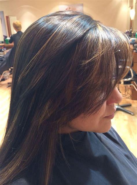 honey highlight  dark hair  hair works pinterest