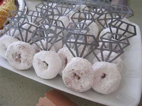 diamond donuts paper diamond cutouts  toothpicks