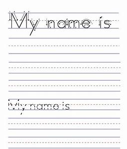 blank handwriting worksheets for kindergarten free With free printable name tracing templates