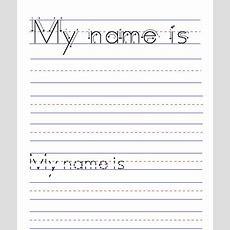 My Name Is  (blank Name Worksheet)  Tracing  Name Tracing, Name Tracing Worksheets, Free