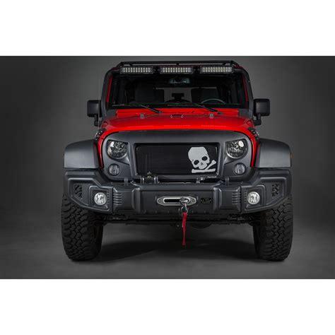 jeep jk grill rugged ridge 12034 33 spartan grille kit skull 07 16
