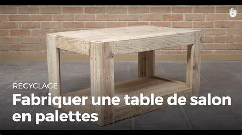 fabriquer une table de salon en palette recycler
