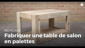 Table En Palette : fabriquer une table de salon en palette recycler youtube ~ Melissatoandfro.com Idées de Décoration