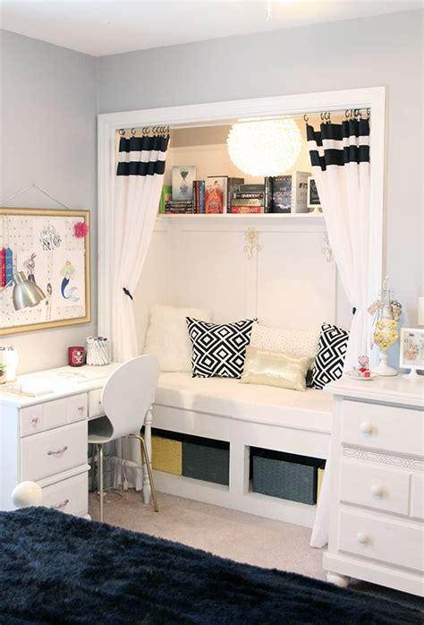 teen girls room closet reading nook updated home