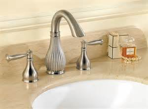 Brushed Nickel Bathroom Faucets Widespread by Pfister Virtue 2 Handle 8 Quot Widespread Bathroom Faucet