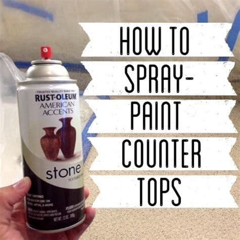 Spray Paint Countertops - how to spray paint countertops