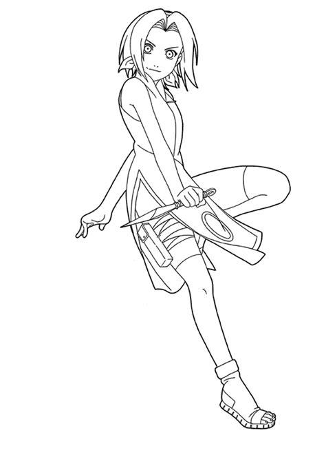 Cartoon Coloring Naruto Coloring Pages Sakura Haruno