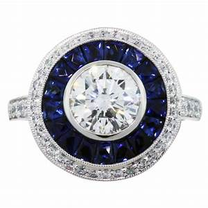 round diamond and sapphire engagement rings ct round With wedding ring with sapphires and diamonds