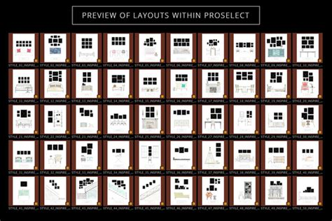 proselect frame layout collections design aglow
