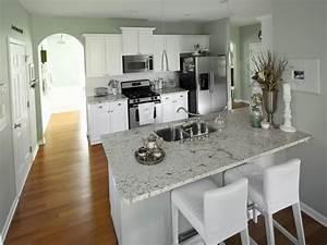 Neutral Granite Countertop Colors For Narrow Kitchen ...