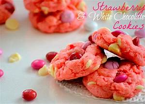 Strawberry and White Chocolate Cake Mix Cookies ...