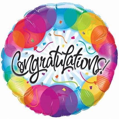 Balloon Congratulations Balloons Foil Colourful Sparkling Sold