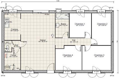 plan de maison 5 chambres plain pied gratuit ventana