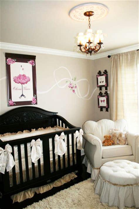 pink  brown parisian nursery project nursery