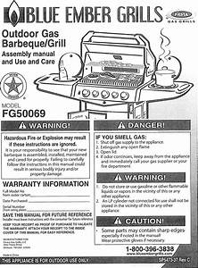 Fiesta Fg50069 User Manual Gas Grill Manuals And Guides