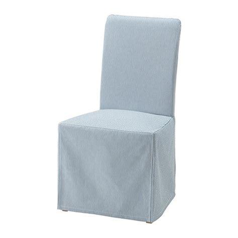 ikea henriksdal chair slipcover cover skirted remvallen blue white stripes