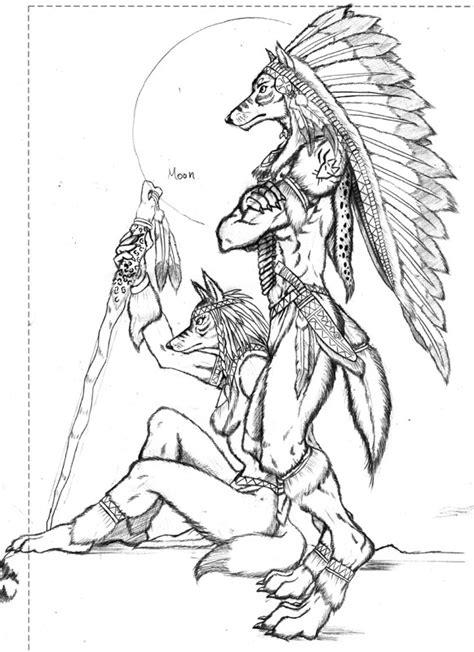 simple native american animal drawings