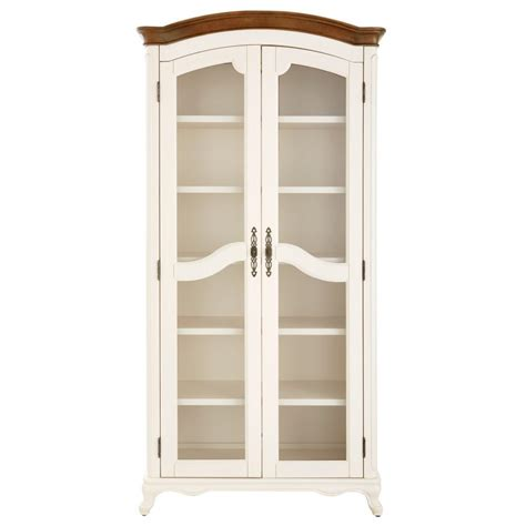 martin ivory glass door bookcase home decorators collection provence ivory double glass